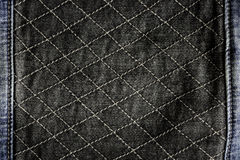 Black jeans fabric can use as background Royalty Free Stock Images
