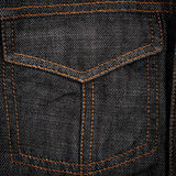 Black jeans fabric with pocket Stock Photos