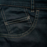Black jeans fabric with pocket Stock Photo