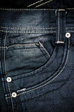 Black jeans fabric with pocket background Royalty Free Stock Photo