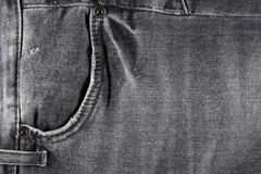 Black jeans pocket Royalty Free Stock Photography