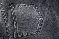 Black jeans pocket Stock Photos