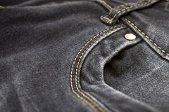 Black Jeans Pocket Stock Photography