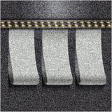 Black jeans realistic denim texture Royalty Free Stock Image