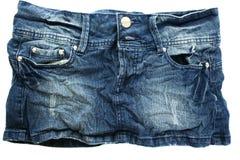 Black jeans skirt royalty free stock photos
