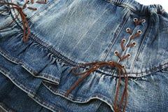Black jeans skirt royalty free stock image