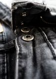 Black jeans texture abstract background : black and white tone Royalty Free Stock Photography
