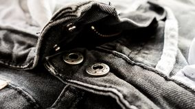 Black jeans texture abstract background : black and white tone Royalty Free Stock Photo