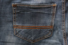 Black jeans texture and background with seams. Black jeans texture and background Jeans pocket Stock Photography