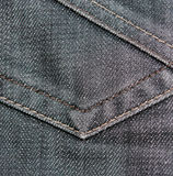 Black jeans texture fabric close-up Royalty Free Stock Photo