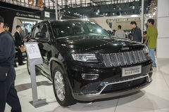 Black jeep grand cherokee car Stock Photo