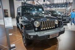 Black jeep wrangler car Royalty Free Stock Photos