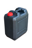 Black jerrycan isolated Stock Photo