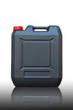 Black jerrycan isolated. On white background Stock Image