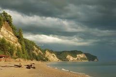 black jest plaży morza Obraz Royalty Free