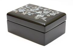 Black jewellery box Royalty Free Stock Image