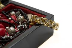 Black jewellery box Stock Image