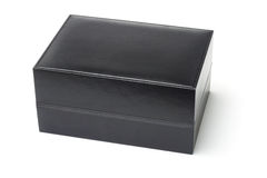 Black jewelry box Stock Photos