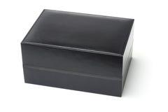 Black jewelry box. Isolated on white background Stock Photos