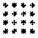 A black jigsaw pieces Stock Images