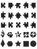 Black jigsaw Puzzle Pieces icon Royalty Free Stock Photos