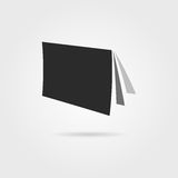 Black journal icon with shadow Stock Images