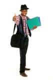 Black joyful businessman Stock Photo