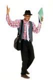 Black joyful businessman Stock Photos