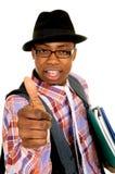 Black joyful businessman Royalty Free Stock Photography