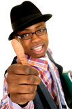 Black joyful businessman Stock Photos