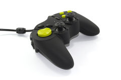 Black joypad. Black and green joypad on a white background Royalty Free Stock Photos