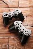 Black joysticks Stock Photography