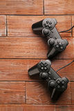 Black joysticks Stock Images