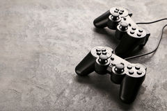 Black joysticks Royalty Free Stock Photography
