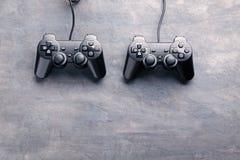Black joysticks Royalty Free Stock Images