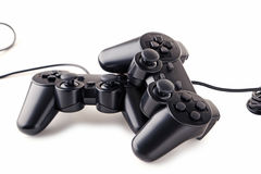 Black joysticks Royalty Free Stock Photo
