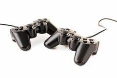 Black joysticks Royalty Free Stock Image
