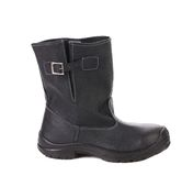Black kersey boot. On white background Royalty Free Stock Photography