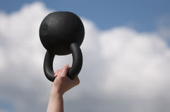 Black Kettlebell Royalty Free Stock Images