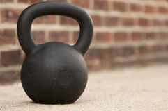 Black Kettlebell Royalty Free Stock Photography