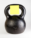 Black kettlebell with empty heavy Stock Photos