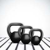 Black kettlebell Royalty Free Stock Photos