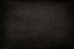 Black Kevlar Stitching Pattern Stock Photography