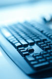 Black keyboard. Photographed with shallow depth of field Royalty Free Stock Photos