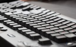 Black keyboard. PC keyboard background close-up photo Royalty Free Stock Photo