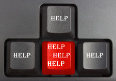 Black keyboard. Close up, computer keys on keyboard Stock Photo