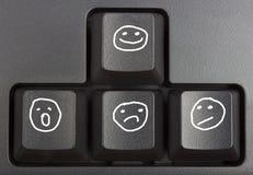 Black keyboard. Close up, computer keys on keyboard Stock Image