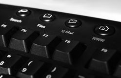 Black keyboard Royalty Free Stock Image