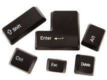 Black keyboard buttons Stock Images