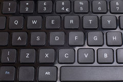 Black keyboard buttons abstract close up Stock Photo